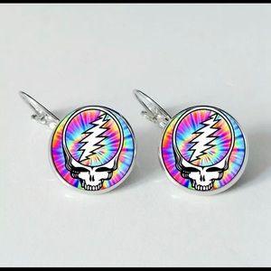 Grateful Dead SYF Round Drop Earrings